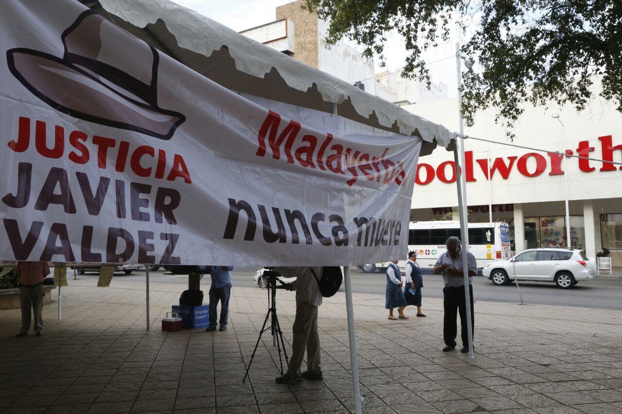 Protestan en Sinaloa a dos meses del asesinato de Javier Valdez
