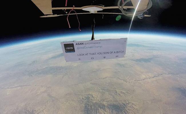 Le mandan mensaje a Donald Trump desde el espacio