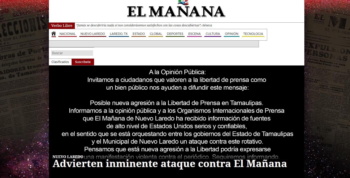 PGJE Tamaulipas investiga denuncia del diario
