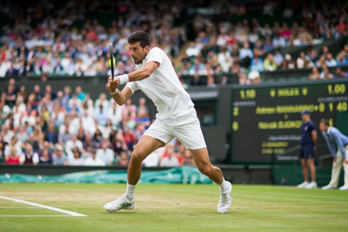 Sin descanso, Nole enfrenta los cuartos de Wimbledon