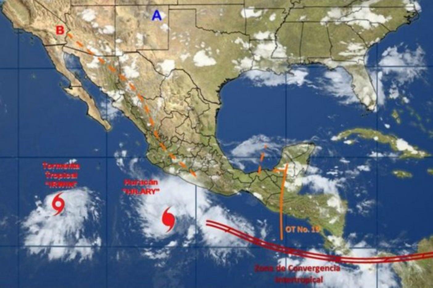 'Hilary' se fortalece y provoca tormentas intensas en Guerrero y Oaxaca