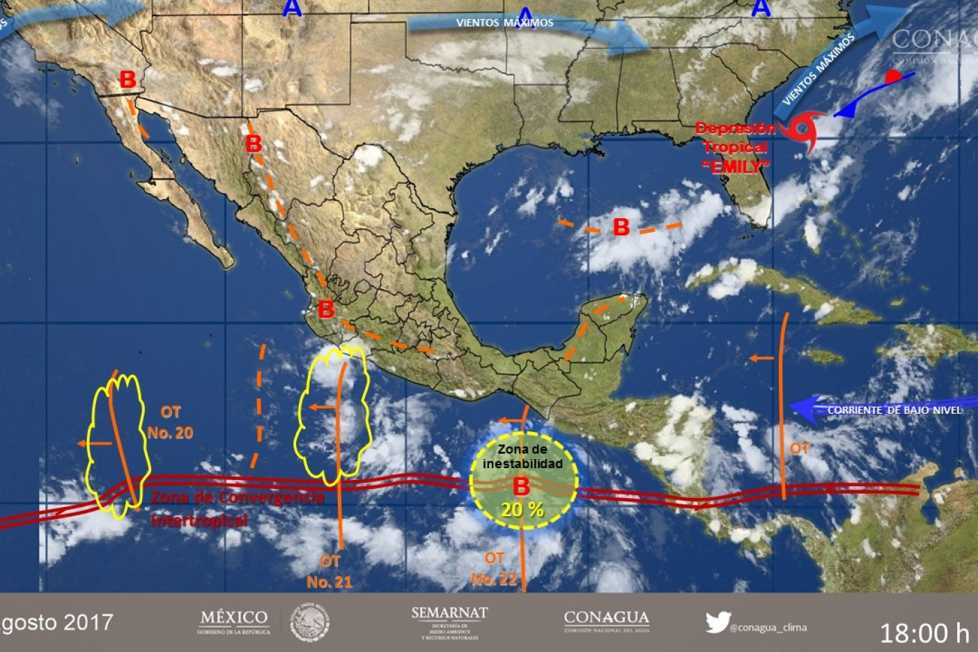 Se esperan lluvias por onda tropical