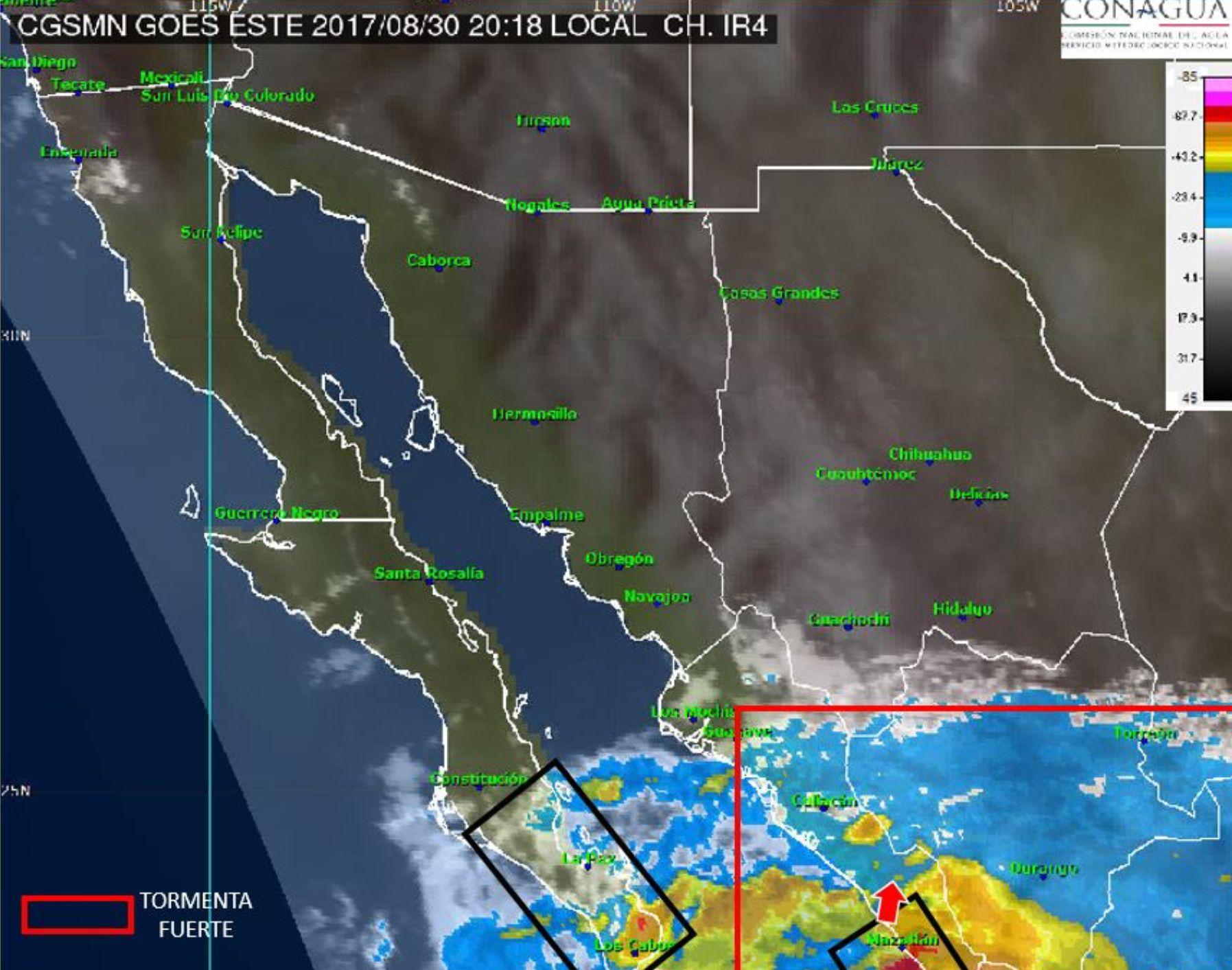 Surge tormenta tropical 'Lidia' en el Pacífico