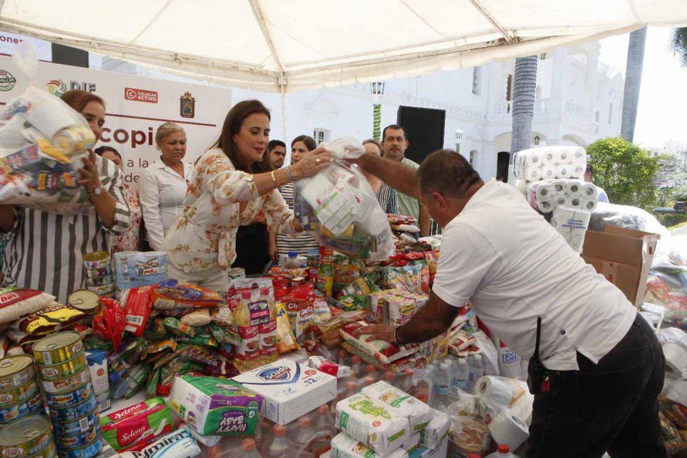 DIF municipal de Veracruz instala centros de acopio para damnificados