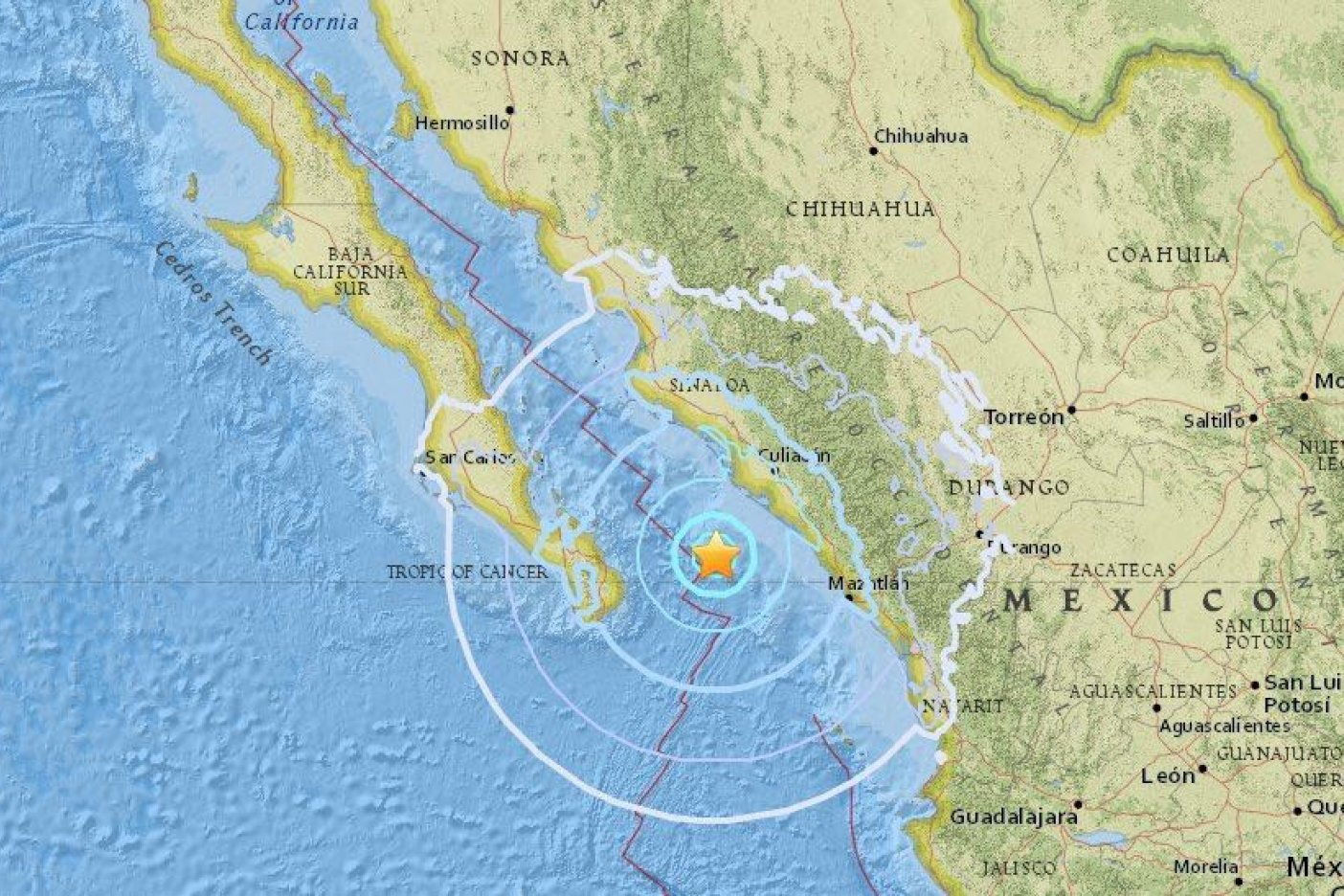 Se registra otro sismo, ahora en Los Cabos y Sinaloa