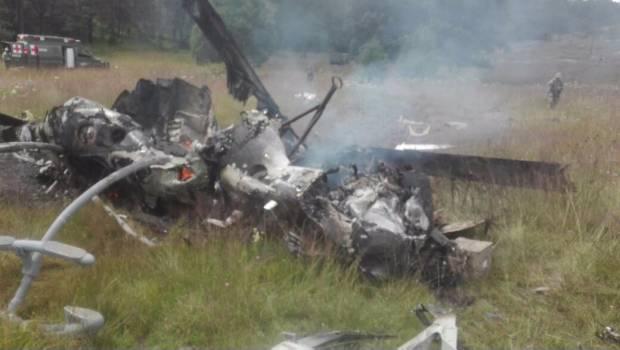 Se registra caída de helicóptero militar en Durango