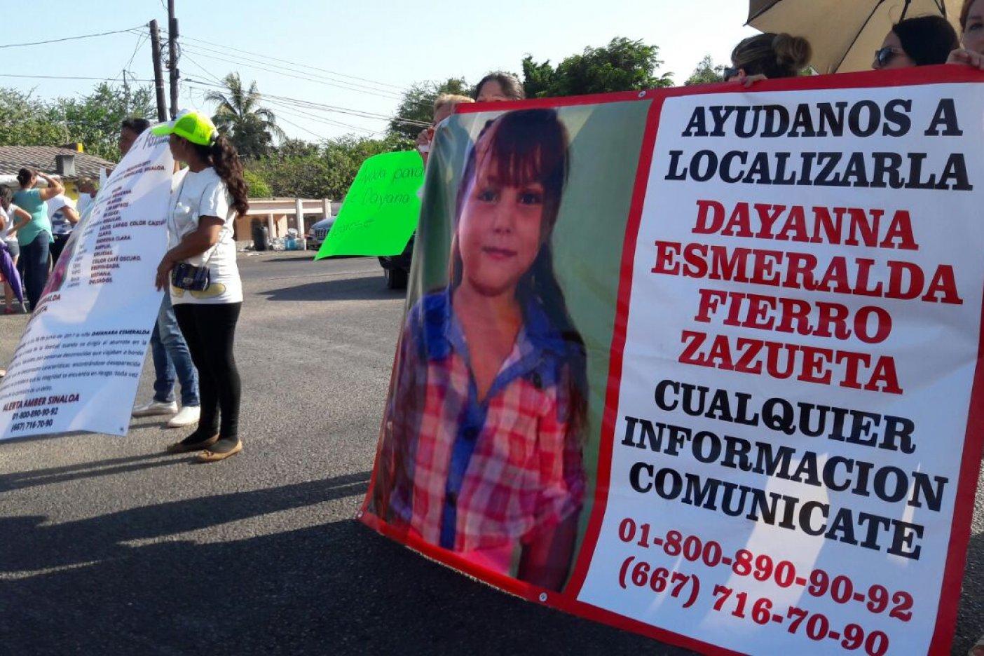 Confirman asesinato de niña desaparecida en Sinaloa
