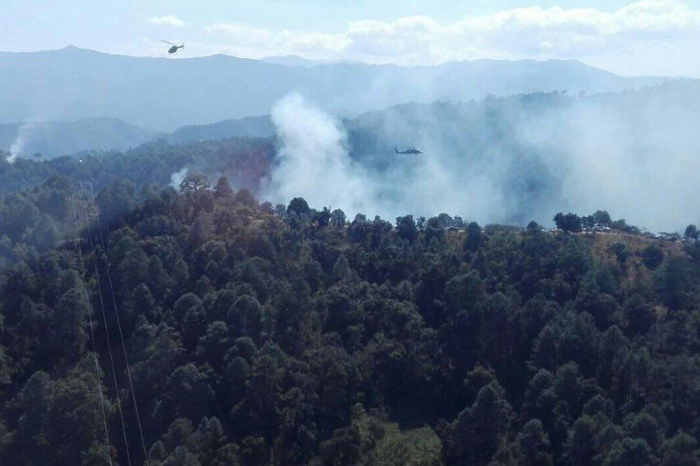 Se desploma helicóptero del Ejército en Guerrero; confirman un muerto