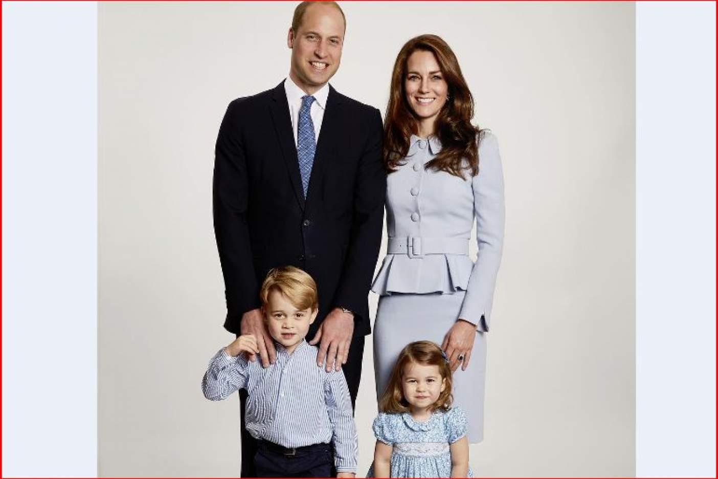 Príncipe William y Kate Middleton revelaron su postal de navidad