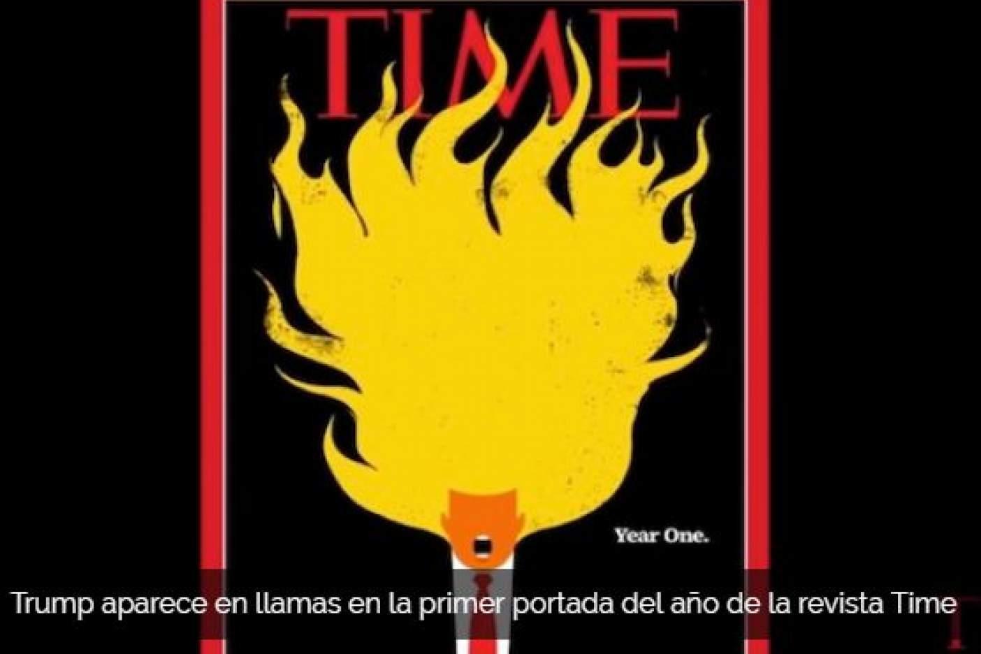 Trump en llamas, la nueva portada de 'TIME'