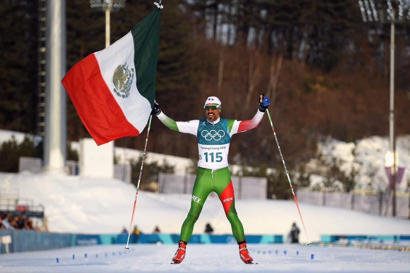 Mexicano queda último en esquí de fondo, pero no es una derrota
