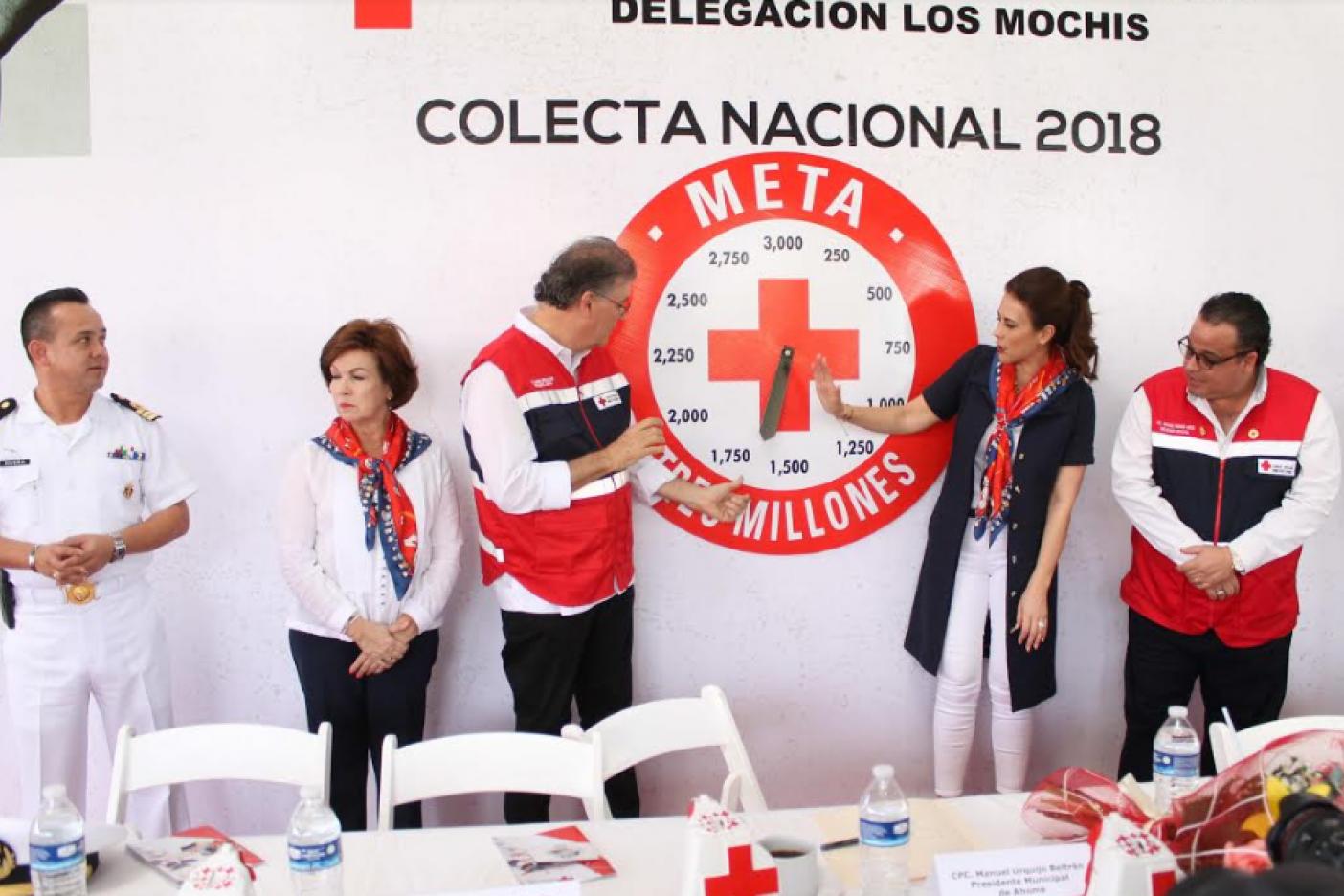 Inicia Sepe la colecta anual de Cruz Roja