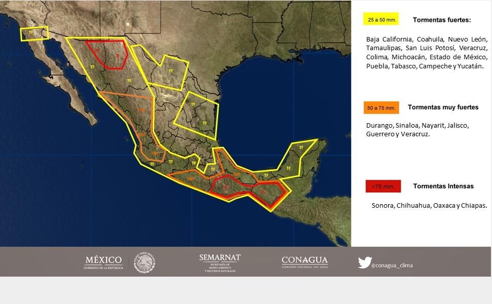 Continúa pronóstico de tormentas fuertes en zonas de Oaxaca